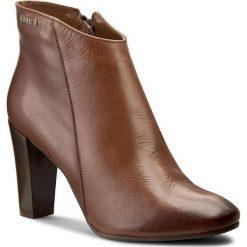 Botki A.J.F. - B0786  Rudy 509. Brązowe buty zimowe damskie A.J.F., ze skóry. W wyprzedaży za 209,00 zł.