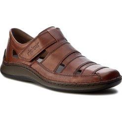 Sandały męskie skórzane: Sandały RIEKER – 05278-24 Braun