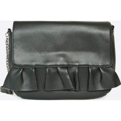 Vero Moda - Torebka Ruffle. Szare torebki klasyczne damskie marki Vero Moda, w paski, z materiału, średnie. W wyprzedaży za 49,90 zł.