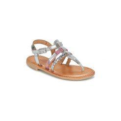 Sandały Dziecko  Les Tropéziennes par M Belarbi  BARMI. Czerwone sandały dziewczęce marki Born2be, z materiału, z otwartym noskiem, na zamek. Za 167,30 zł.