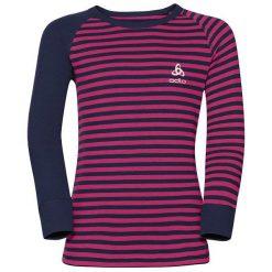 Odzież dziewczęca: Odlo Koszulka dziecięca termoaktywna Shirt l/s crew neck czarno-czerwona r. 164