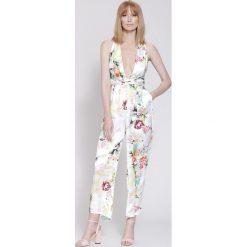 Kombinezony damskie na lato: Biały Kombinezon Lucky Bamboo