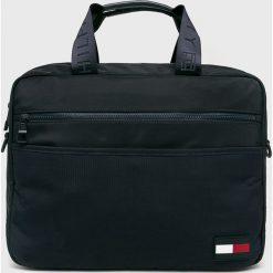 Tommy Hilfiger - Torba. Czarne torby na laptopa marki TOMMY HILFIGER, w paski, z materiału. Za 539,90 zł.