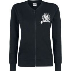 Bomberki damskie: Harry Potter Hogwarts Logo Kurtka damska czarny