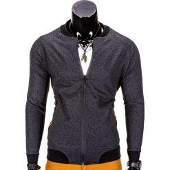 Bluzy męskie: BLUZA MĘSKA ROZPINANA BEZ KAPTURA B673 – GRAFITOWA