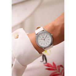 Zegarki damskie: Biało-Srebrny Zegarek Millions Time