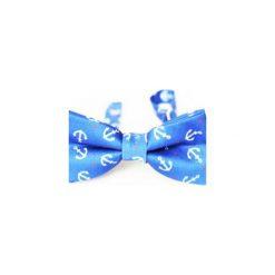 Mucha Anchor Style. Niebieskie muchy męskie Edyta kleist, w paski, z materiału, eleganckie. Za 99,00 zł.