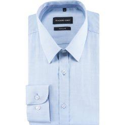 Koszula SIMONE KDNR000481. Niebieskie koszule męskie na spinki Giacomo Conti, m, z bawełny, z klasycznym kołnierzykiem, z długim rękawem. Za 259,00 zł.