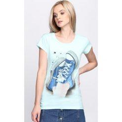 T-shirty damskie: Miętowy T-shirt Plimsoll