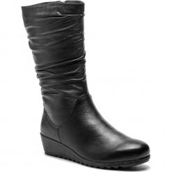 Kozaki CAPRICE - 9-26407-21 Black Nappa 022. Czarne buty zimowe damskie Caprice, ze skóry, przed kolano, na wysokim obcasie. W wyprzedaży za 249,00 zł.