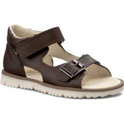 Sandały MRUGAŁA - Roma 1104-33 Brown. Brązowe sandały chłopięce Mrugała, ze skóry. Za 139,00 zł.