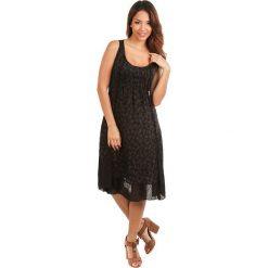 Sukienki asymetryczne: Lniana sukienka w kolorze czarnym