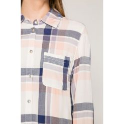 Roxy - Koszula. Szare koszule damskie w kratkę marki Roxy, m, z bawełny, casualowe, z klasycznym kołnierzykiem, z długim rękawem. W wyprzedaży za 179,90 zł.