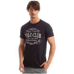 Polo Club C.H..A T-Shirt Męski M Ciemnoniebieski. Niebieskie koszulki polo marki Oakley, na lato, z bawełny, eleganckie. W wyprzedaży za 119,00 zł.