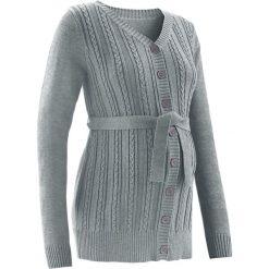 Sweter ciążowy rozpinany bonprix szary melanż. Szare kardigany damskie marki bonprix. Za 99,99 zł.