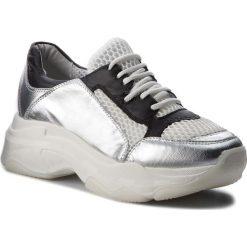 Sneakersy HEGO'S MILANO - 1042 Combi Argento/Nero. Szare sneakersy damskie Hego's Milano, z materiału. W wyprzedaży za 299,00 zł.