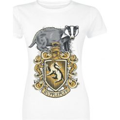 Bluzki asymetryczne: Harry Potter Hufflepuff Koszulka damska biały
