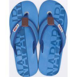 Napapijri - Japonki. Szare japonki męskie marki Napapijri, z gumy. W wyprzedaży za 129,90 zł.