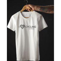 Koszulka T-SHIRT. I love cycling - my lifestyle. Czarne t-shirty męskie z nadrukiem Pakamera, m. Za 85,00 zł.