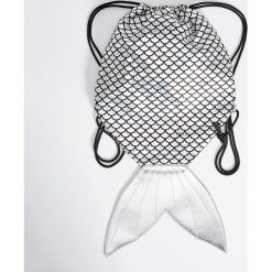 Plecaki damskie: Plecak worek – Jasny szar