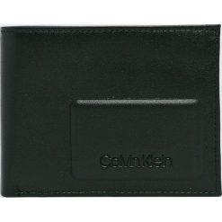 Calvin Klein - Portfel skórzany. Czarne portfele męskie marki Calvin Klein, z materiału. Za 269,90 zł.