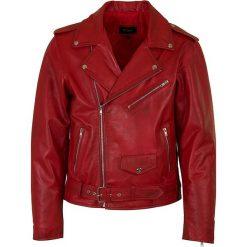 Kurtki męskie: Skórzana kurtka w kolorze czerwonym