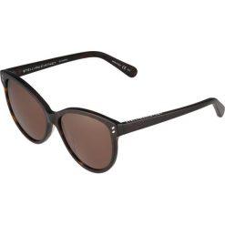 Stella McCartney Okulary przeciwsłoneczne dark brown. Brązowe okulary przeciwsłoneczne damskie lenonki marki Stella McCartney. W wyprzedaży za 639,20 zł.