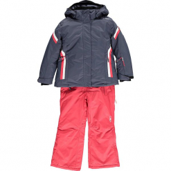 2-częściowy zestaw narciarski w kolorze granatowo-jagodowym. Czerwone kurtki dziewczęce przeciwdeszczowe marki Reserved, z kapturem. W wyprzedaży za 325,95 zł.