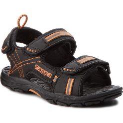Sandały męskie skórzane: Sandały KAPPA – Korfu K 260448K Black/Orange 1144