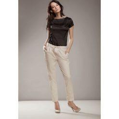 Bluzki asymetryczne: Czarna Elegancka Bluzka z Satyny