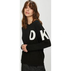 Dkny - Bluzka piżamowa. Czarne koszule nocne i halki DKNY, m, z nadrukiem, z bawełny, z długim rękawem. W wyprzedaży za 199,90 zł.
