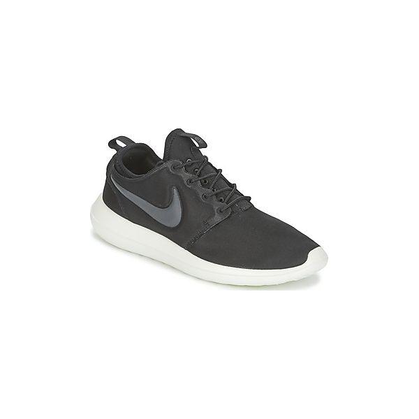 sprzedaż hurtowa jakość wyglądają dobrze wyprzedaż buty Buty Nike ROSHE TWO - Czarne trampki męskie Nike, bez wzorów ...
