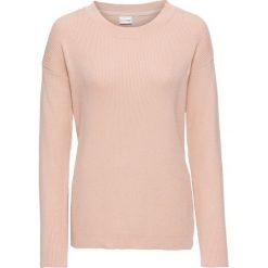 Swetry klasyczne damskie: Sweter bonprix matowy beżowy