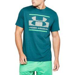 Under Armour Koszulka męska Blocked Sportstle Logo zielona r. XS (1305667-296). Szare koszulki sportowe męskie marki Under Armour, l, z dzianiny, z kapturem. Za 95,66 zł.
