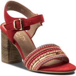 Sandały damskie: Sandały ANN MEX – 869014W+14TS Czerwony