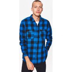 Koszula w kratę z kolekcji BALTIC GAMES - Granatowy. Fioletowe koszule męskie marki Cropp, l. Za 79,99 zł.