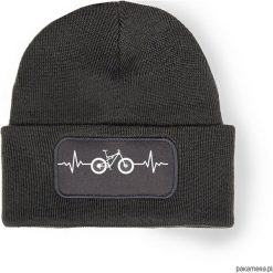 Czapka zimowa EKG FULL. Czarne czapki zimowe męskie Pakamera, na zimę, z nadrukiem. Za 69,00 zł.