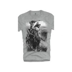 T-shirt UNDERWORLD Ring spun cotton Soldier. Szare t-shirty męskie z nadrukiem marki Underworld, m, z bawełny. Za 59,99 zł.