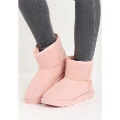 Buty zimowe damskie: Różowe Śniegowce Simply Black