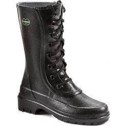 Kalosze LE CHAMEAU - Bottine Saiga BCB1854 Noir. Czarne buty zimowe damskie Le Chameau, z kauczuku. W wyprzedaży za 529,00 zł.