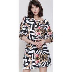 Sukienki: Czarno-Biała Sukienka She's Wonderful