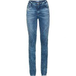 Dżinsy ze stretchem SLIM bonprix niebieski. Niebieskie jeansy damskie marki House, z jeansu. Za 79,99 zł.