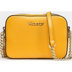 Miodowa torebka damska. Pomarańczowe torebki klasyczne damskie Kazar, w paski, ze skóry. Za 549,00 zł.
