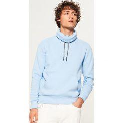 Bluza z kominem - Niebieski. Niebieskie bluzy męskie rozpinane Reserved, l. Za 99,99 zł.