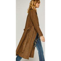 Trendyol - Płaszcz. Szare płaszcze damskie Trendyol, w paski, z bawełny, klasyczne. Za 219,90 zł.