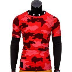 T-shirty męskie: LONGSLEEVE MĘSKI BEZ NADRUKU L65 – CZERWONY