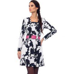 Długie sukienki: Sukienka w kolorze biało-czarnym