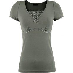 Vive Maria Lovely Lace Koszulka damska zielony. Czarne bluzki koronkowe marki bonprix. Za 99,90 zł.