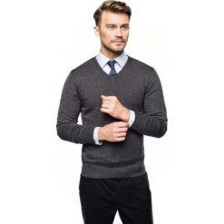 Sweter nagel w serek grafit. Czarne swetry klasyczne męskie Recman, m, z dekoltem w serek. Za 169,00 zł.