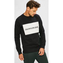 Calvin Klein Jeans - Bluza. Czarne bluzy męskie rozpinane Calvin Klein Jeans, l, z nadrukiem, z bawełny, bez kaptura. Za 399,90 zł.